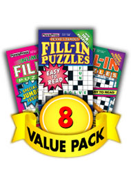 Penny Press Fill-In Puzzles Value Pack-8