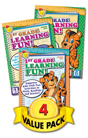 Sunshine School First Grade Learning Fun Value Pack-4