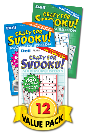 Crazy For Sudoku Value Pack-12