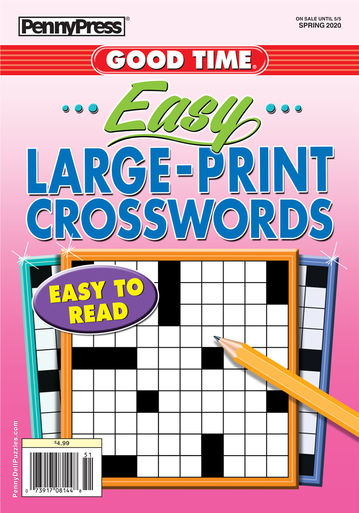 Good Time Easy Large-Print Crosswords