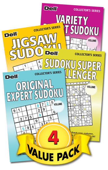 Sudoku With-a-Twist Showcase Value Pack-4