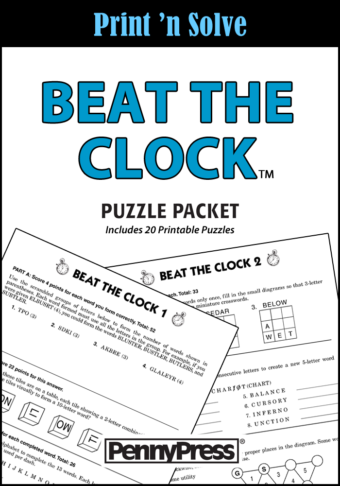 Beat The Clock Puzzle Packet