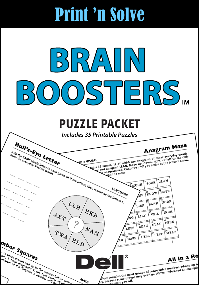 Brain Boosters Puzzle Packet