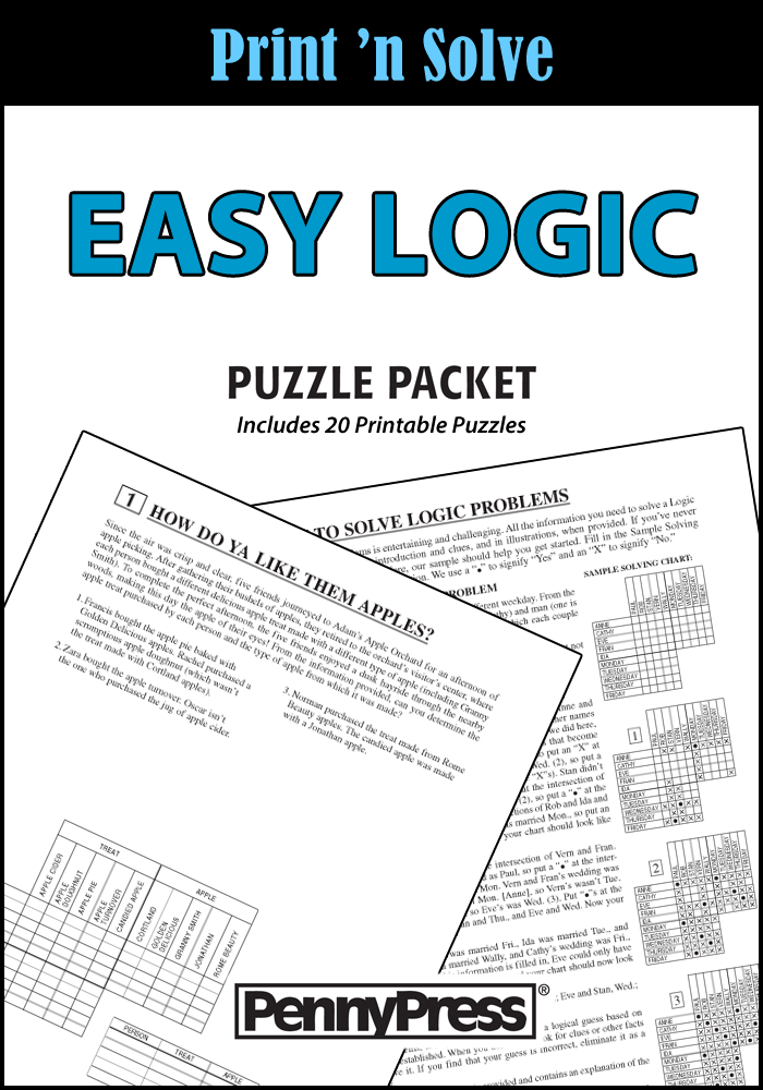 Easy Logic Puzzle Packet