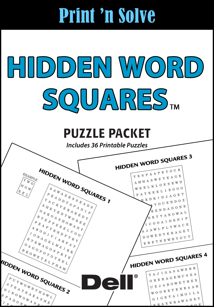 Hidden Word Squares Puzzle Packet