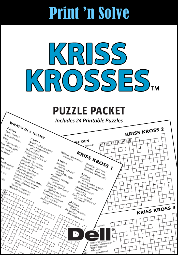 Kriss Krosses Puzzle Packet
