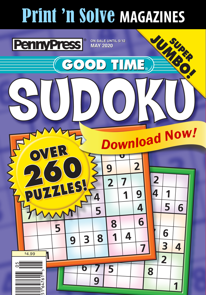 Print 'n Solve Magazines: Good Time Sudoku