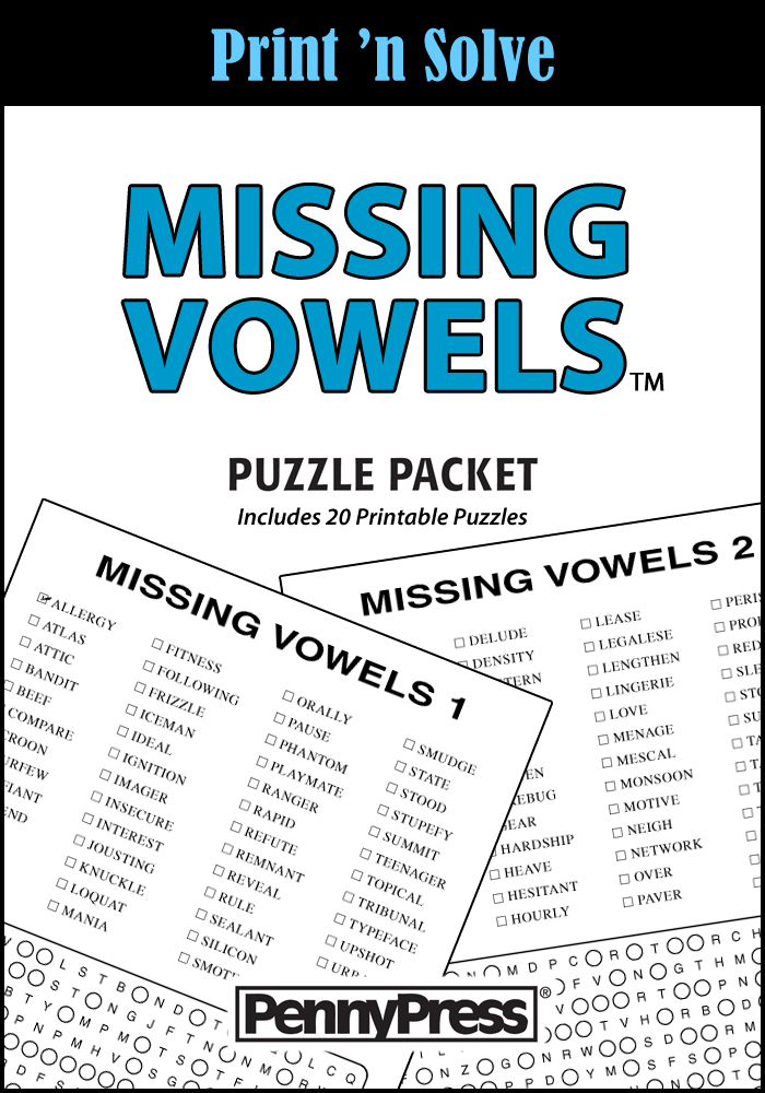 Missing Vowels Puzzle Packet