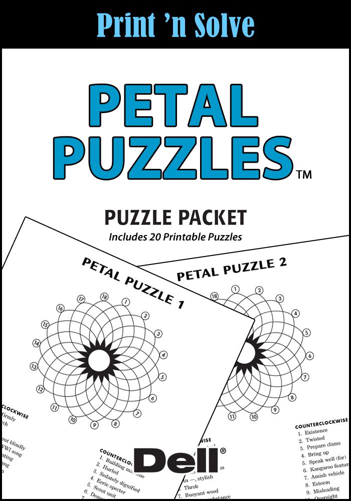 Petal Puzzles Puzzle Packet