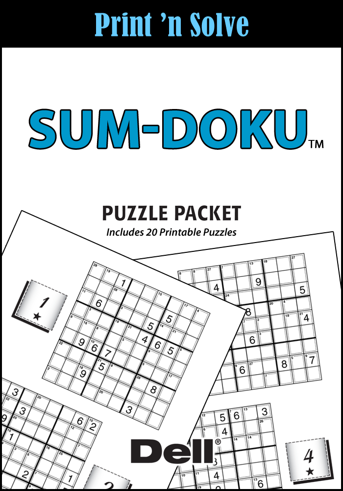 Sum-Doku Puzzle Packet