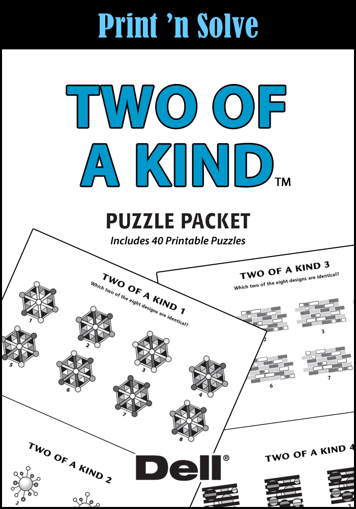 Two Of A Kind Puzzle Packet