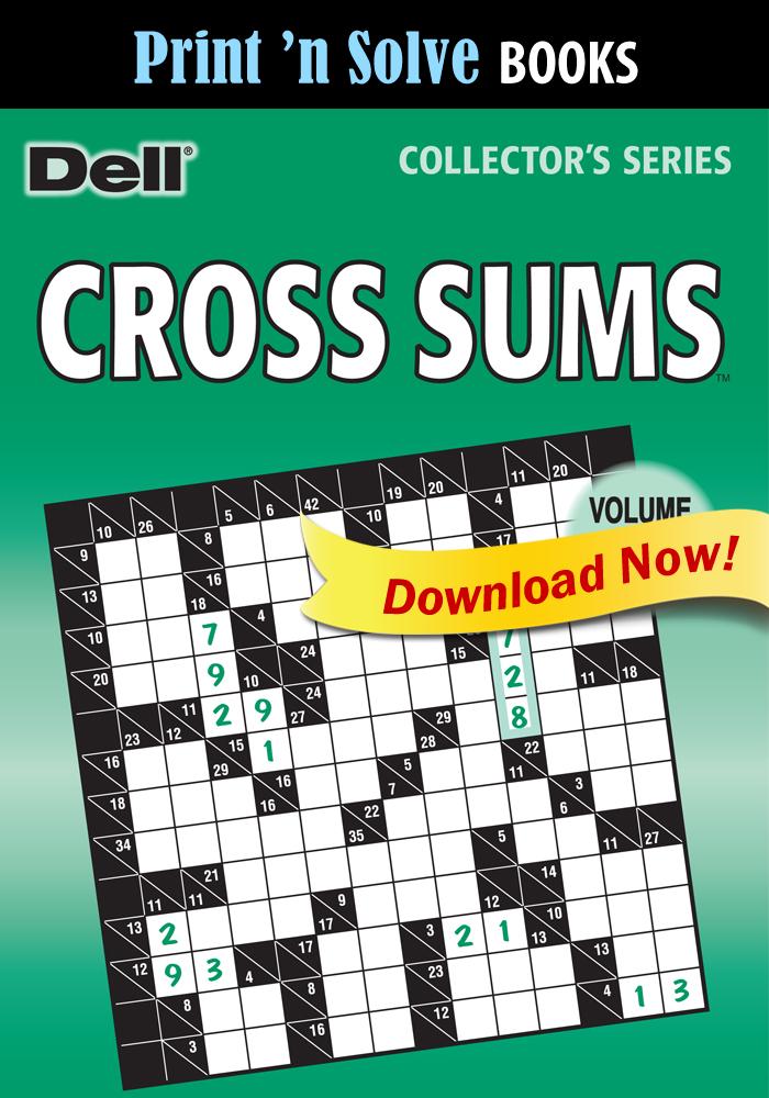 Print 'n Solve Books: Cross Sums, Vol. 251