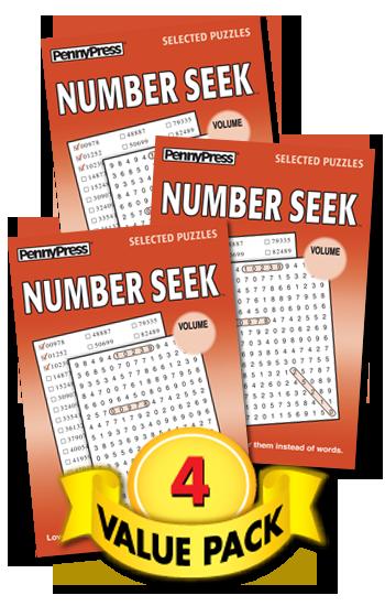 Number Seek Value Pack-4