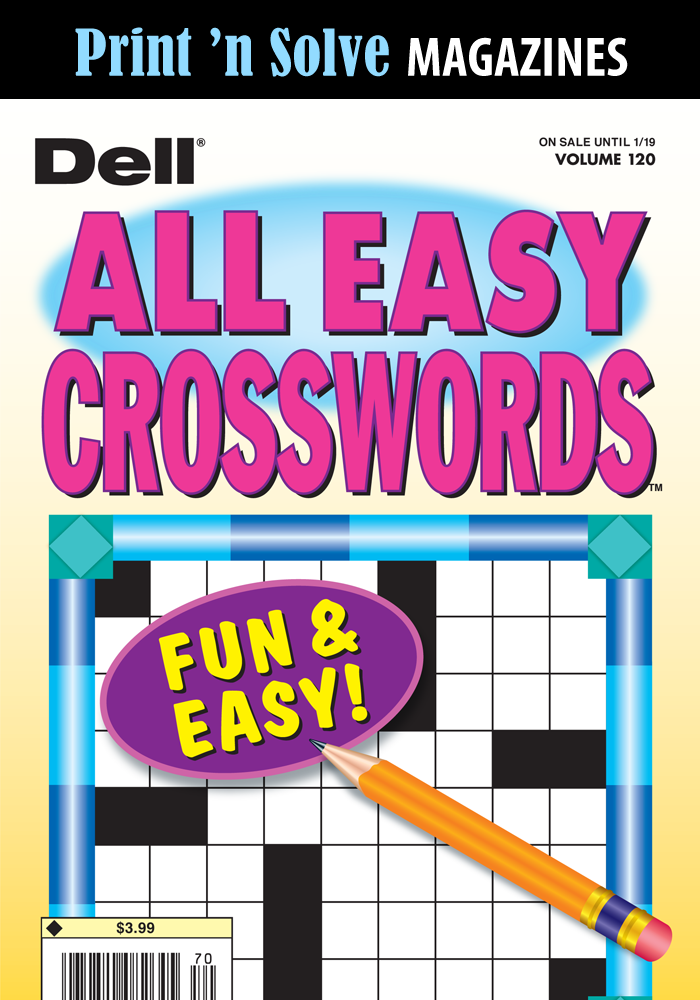 Print 'n Solve Magazines: Dell All Easy Crosswords