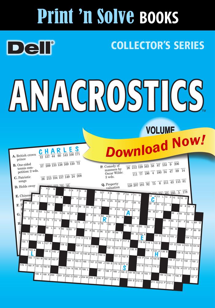 Print 'n Solve Books: Anacrostics