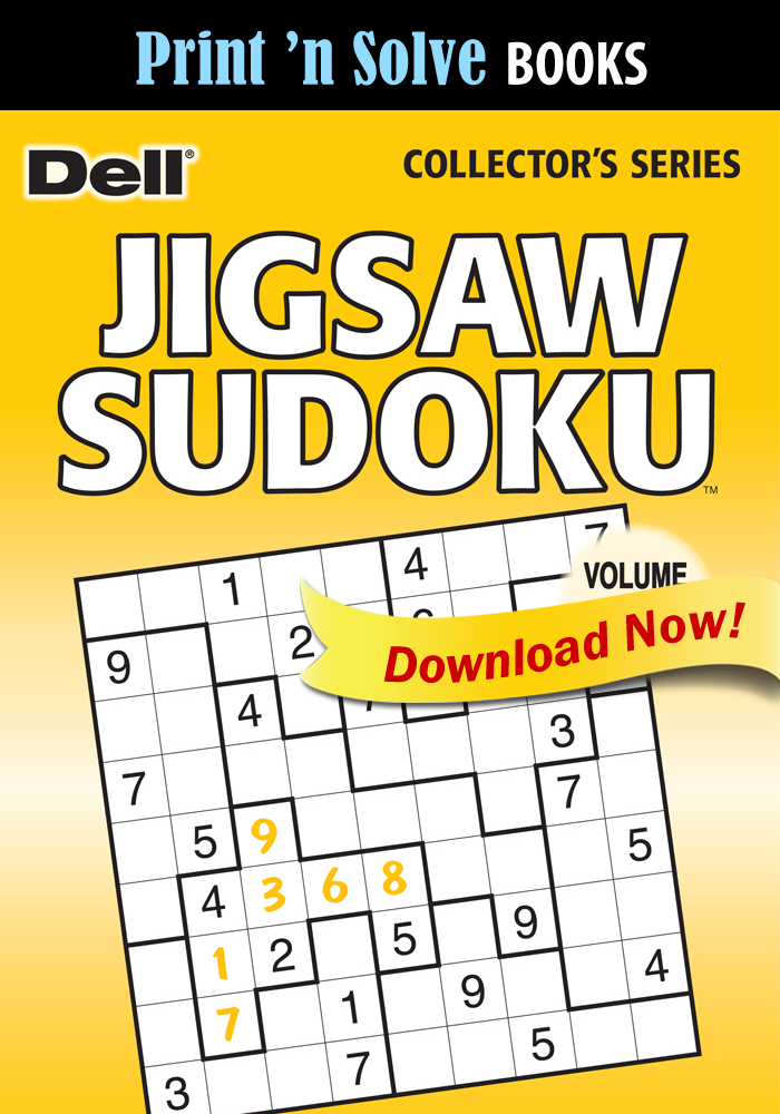 Print 'n Solve Books: Jigsaw Sudoku