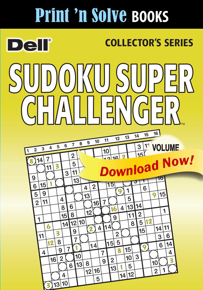 Print 'n Solve Books: Sudoku Super Challenger