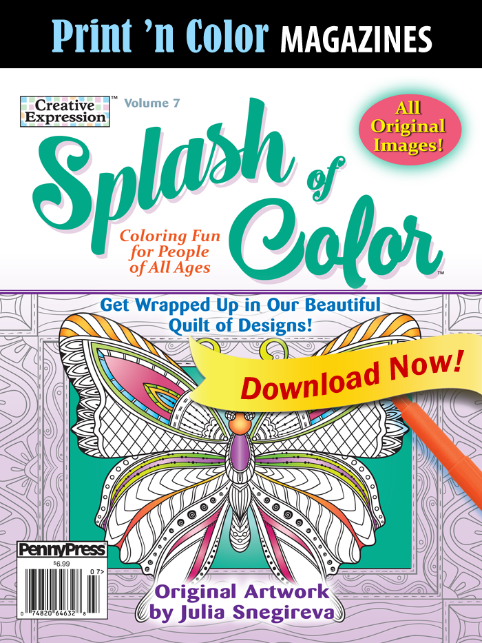 Print 'n Color Magazines: Splash Of Color, Vol. 7
