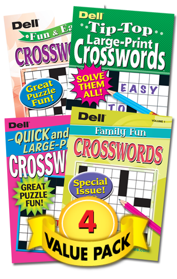 Family Fun Crosswords 4-Pack