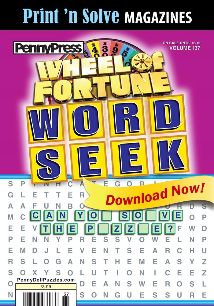 Print 'n Solve Magazines: Wheel Of Fortune