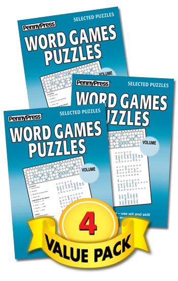 Word Games Puzzles Value Pack-4