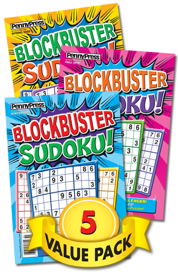 Blockbuster Sudoku Value Pack-5
