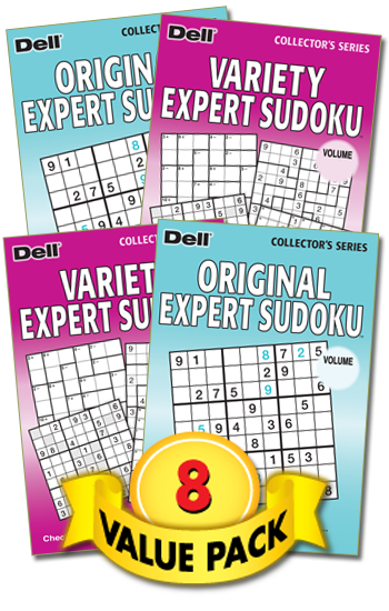 Variety Expert Sudoku/Original Expert Sudoku Value Pack-8