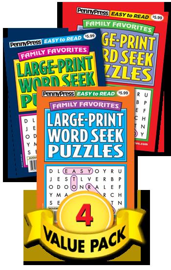 Family Favorite Large-Print Word Seek Value Pack-4