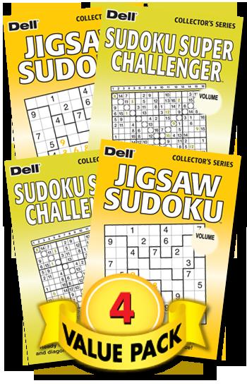 Jigsaw Sudoku-Sudoku Super Challenger Value Pack-4