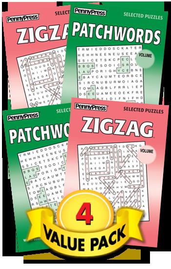 Patchwords-Zigzag Word Seek Value Pack-4