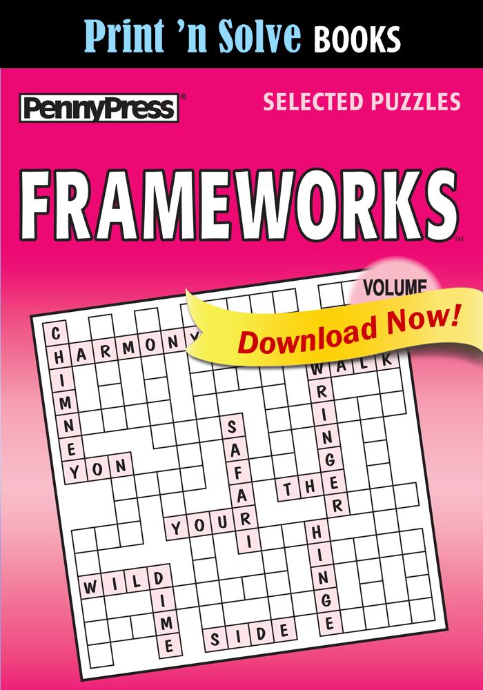 Print 'n Solve Books: Frameworks