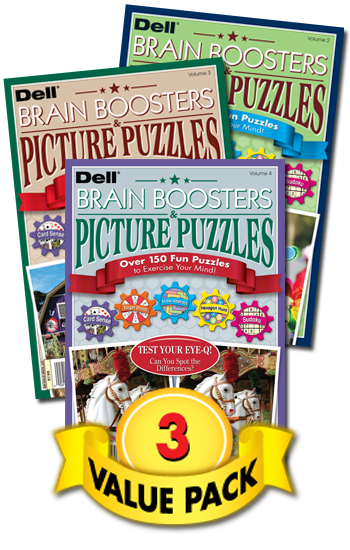 Brain Boosters & Picture Puzzles Value Pack-3