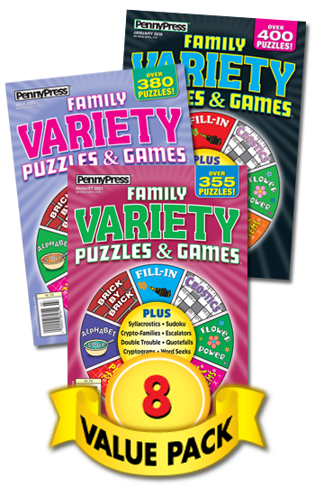 Family Variety Puzzles & Games Value Pack-8