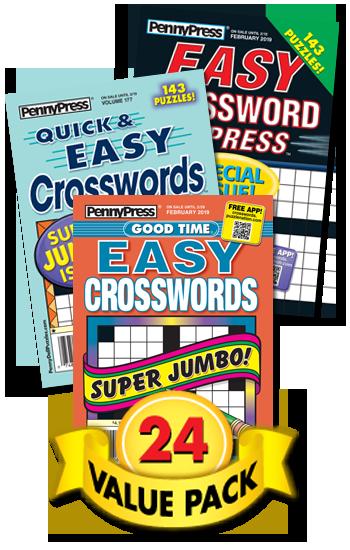 Penny Press All Easy Crossword Value Pack-24