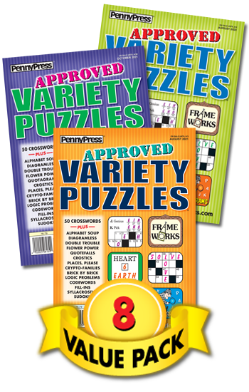 Approved Variety Puzzles Value Pack-8