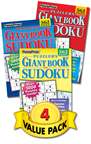 Puzzler's Giant Book Of Sudoku Value Pack-4
