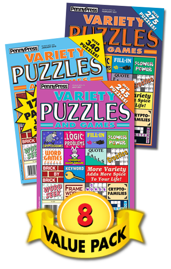 Variety Puzzles And Games Value Pack-8